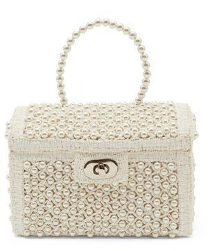 Gaia Faux Pearl Treasure Chest Handbag