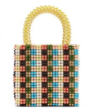 Hector Faux Pearl Beaded Handbag