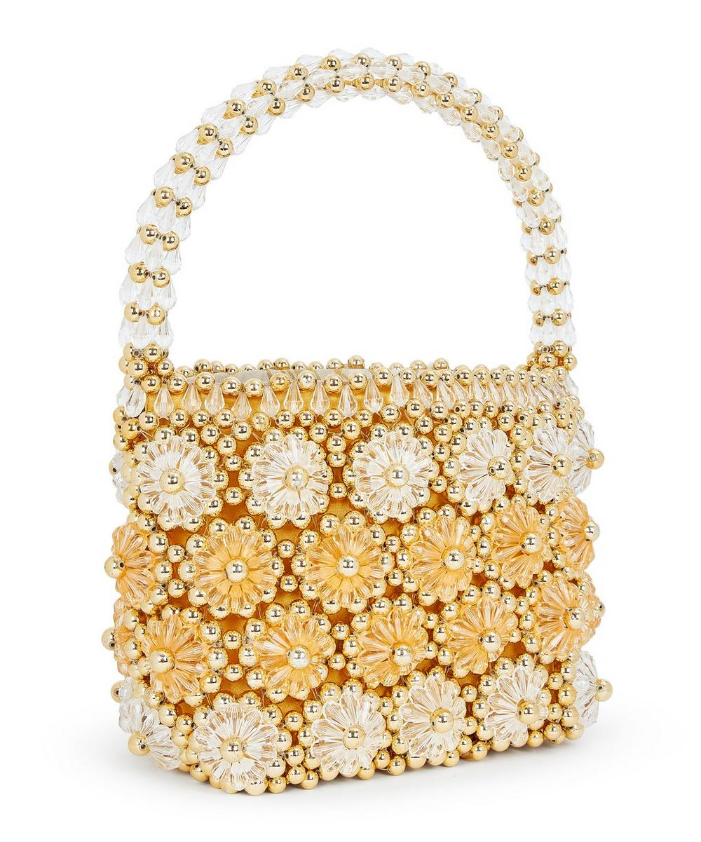 Shelly Faux Pearl Floral Beaded Handbag