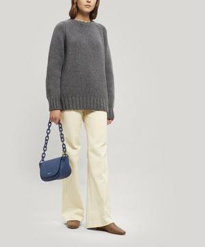 Bend Leather Shoulder Bag