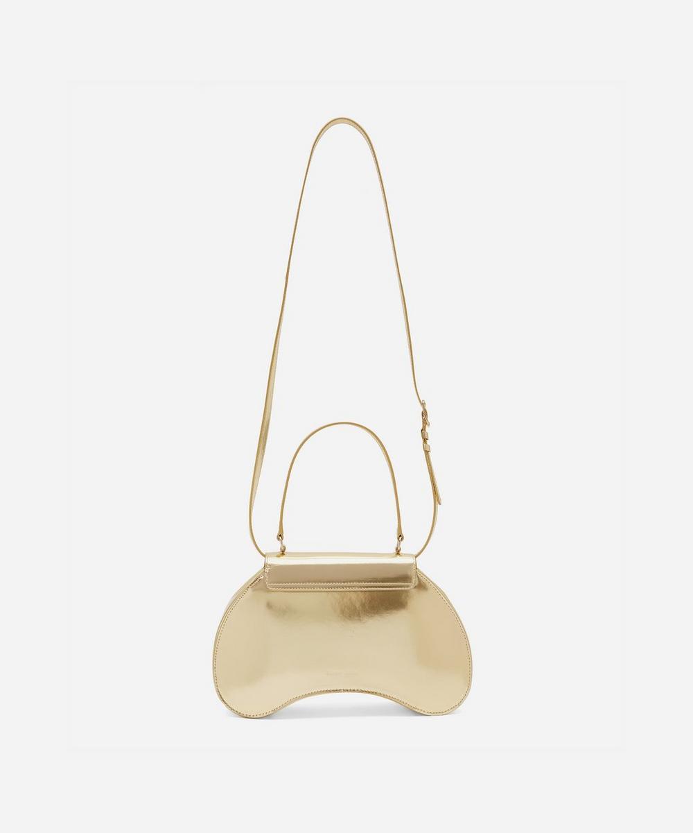Baby Bean Metallic Leather Handbag