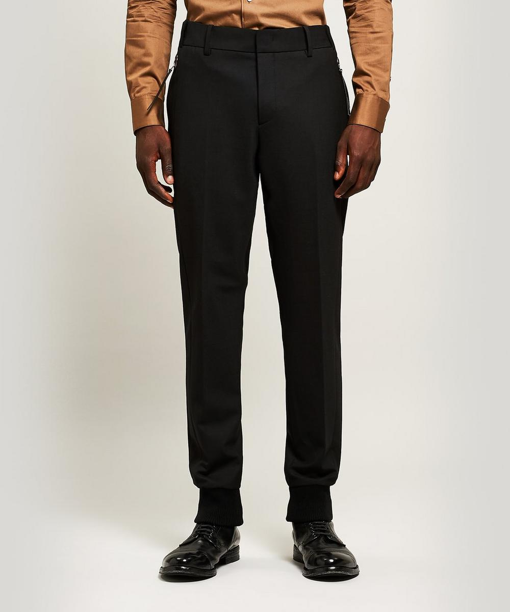 Cuffed Wool-Blend Trousers