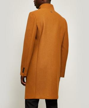 High Collar Wool-Blend Coat