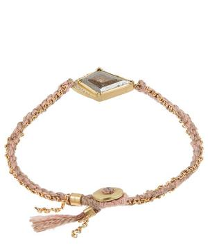 Gold Kite Halo Diamond Slice Silk Chain Bracelet