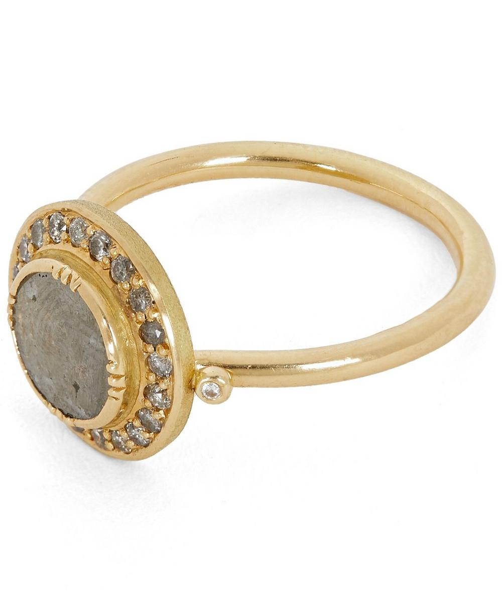 Gold Galaxy Diamond Slice Ring