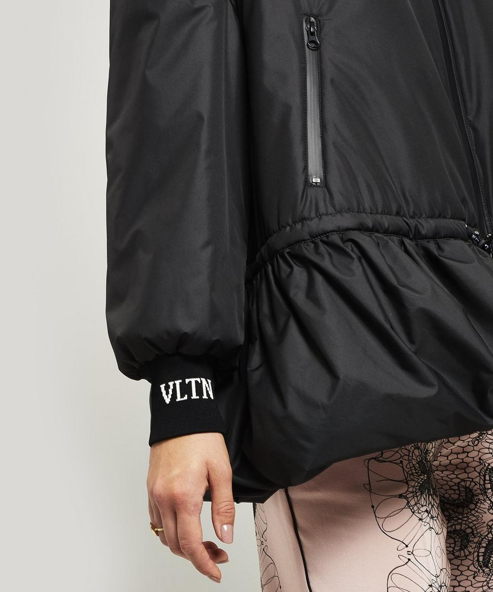 Padded Nylon Logo Bomber Jacket