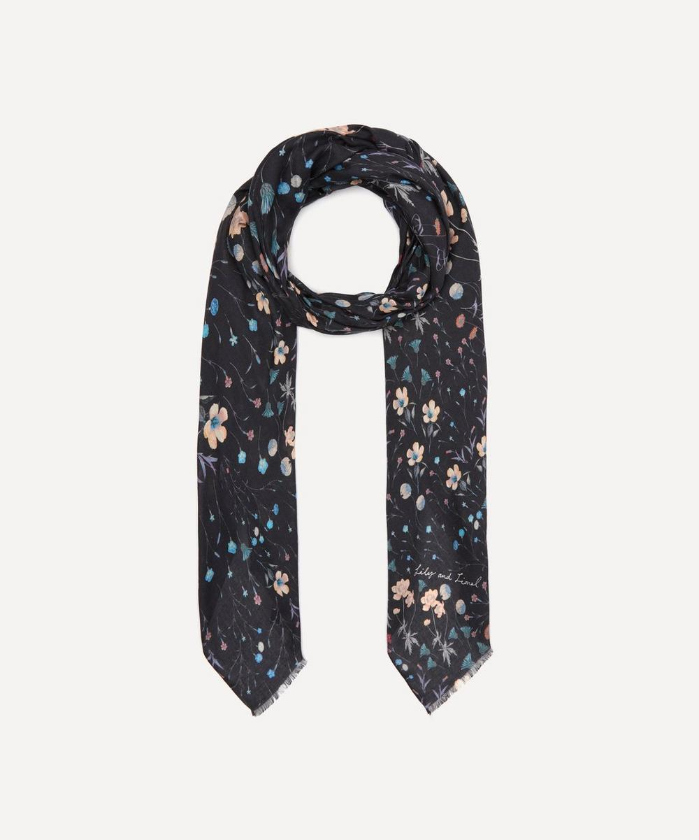 Lily And Lionel Night Garden Modal-blend Scarf In Multi