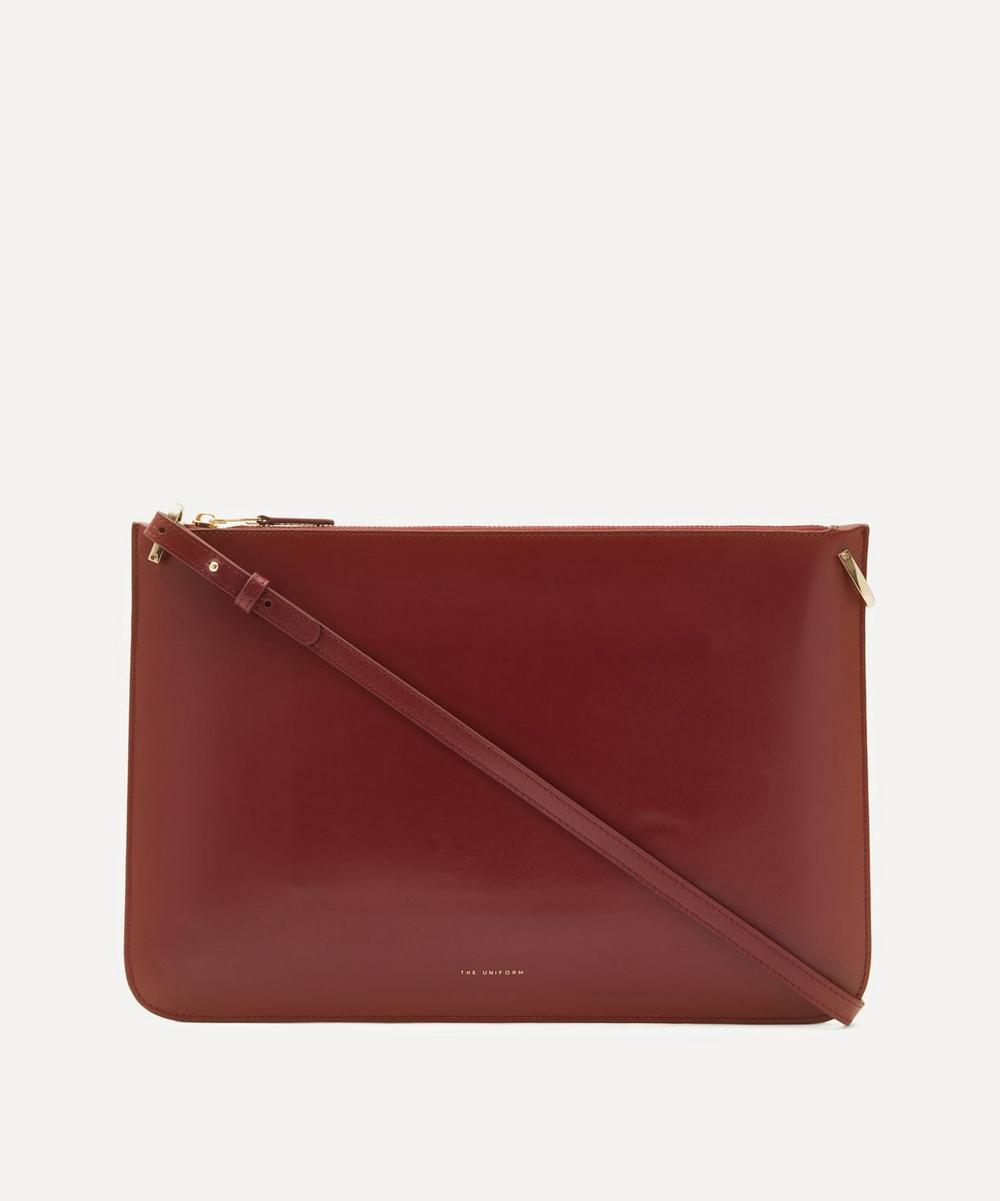 The Uniform Leather Ipad Case In Red