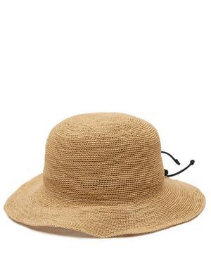 Crochet Straw Hippie Hat