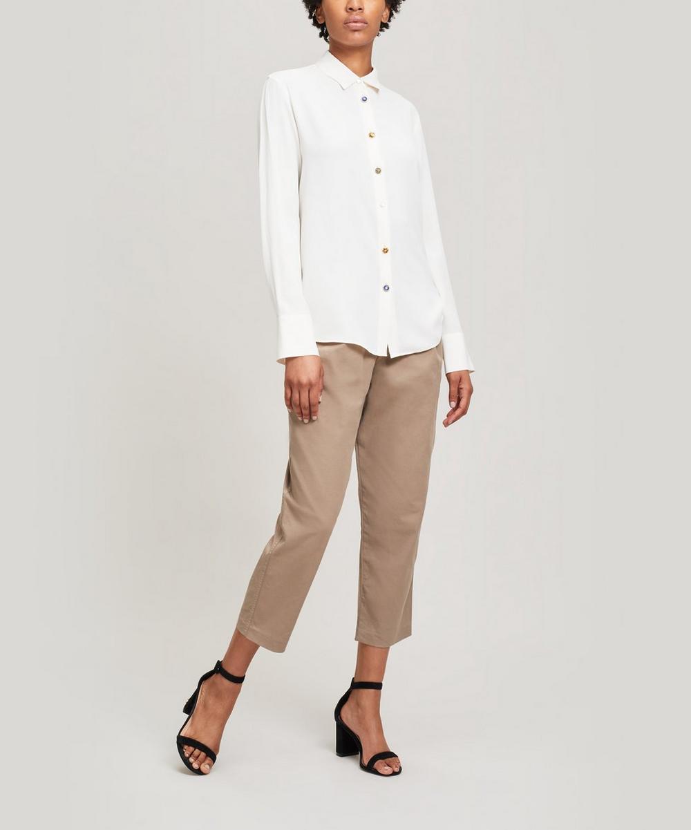 Antique Button-Up Silk Shirt