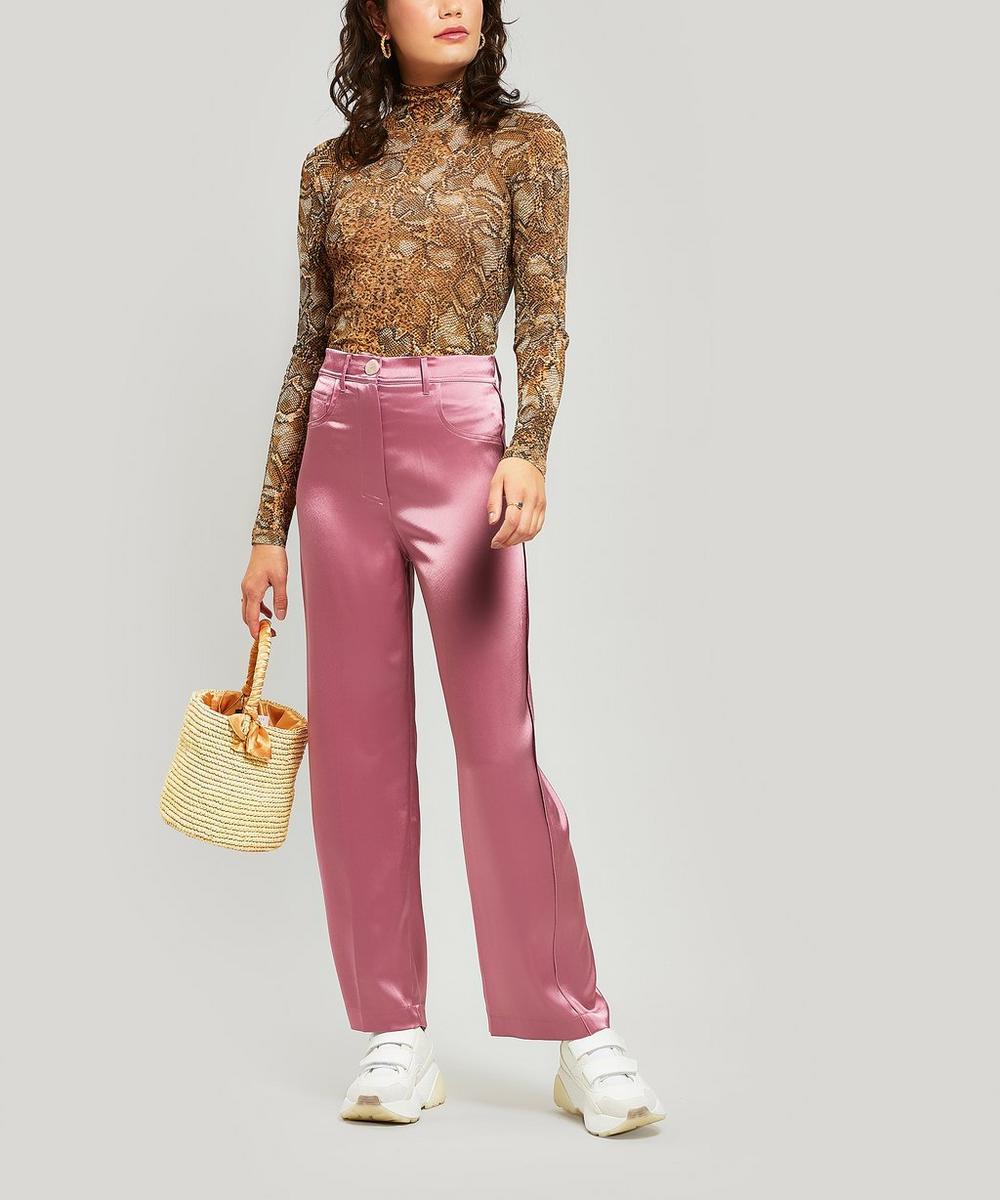 Baby Lou Straw Bucket Bag