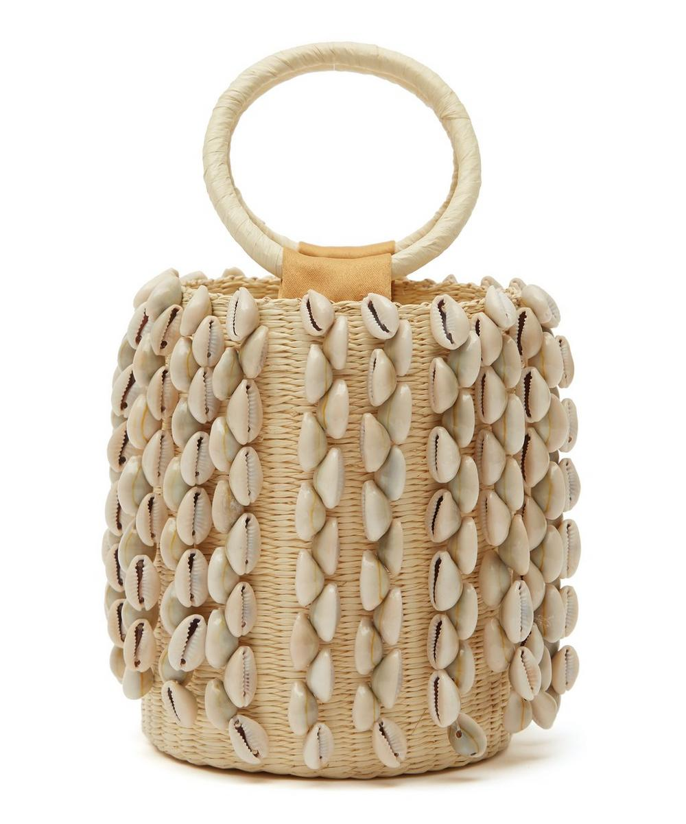 Mini Lou Seashell Straw Bucket Bag
