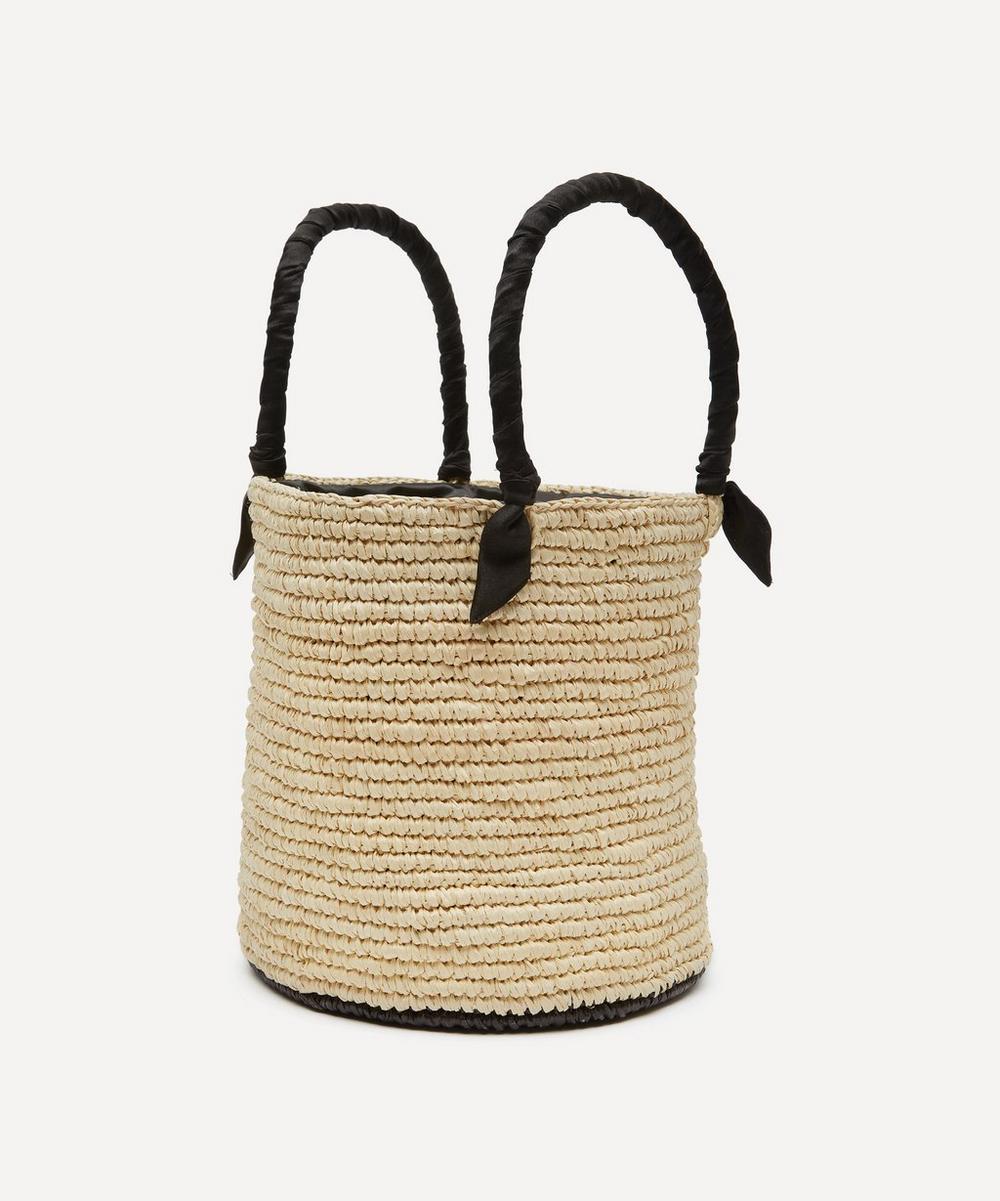 Medium Lou Straw Bucket Bag