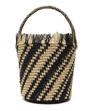 Baby Stripe Straw Bucket Bag