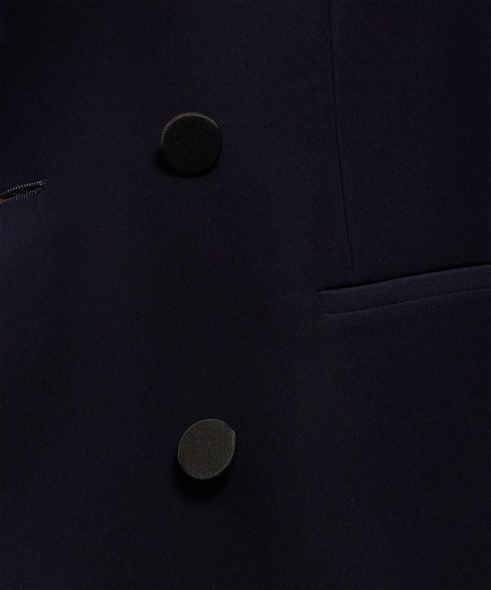 Double-Breasted Tuxedo Blazer