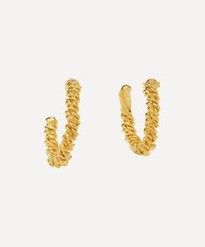 Gold-Plated The Woven History Textured Hoop Earrings