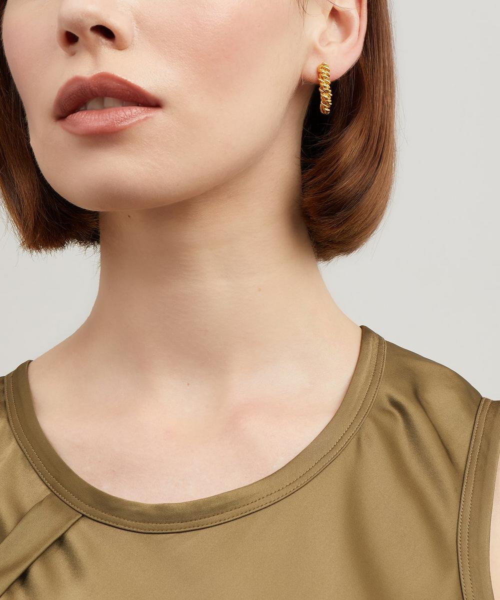 Gold-Plated The Labyrinth Textured Drop Earrings