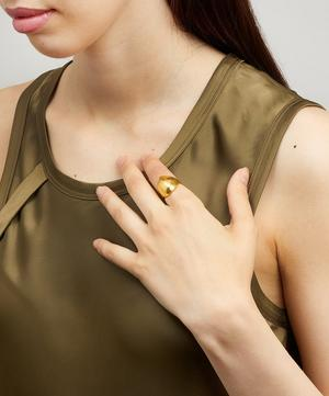 Gold-Plated No Ocean Ring