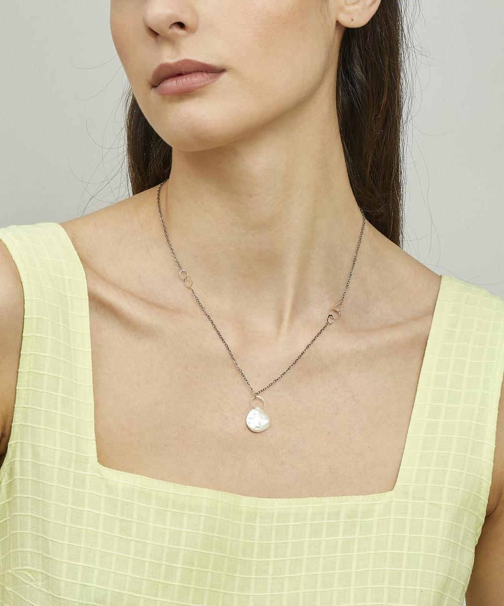 Gold Pearl Drop Necklace