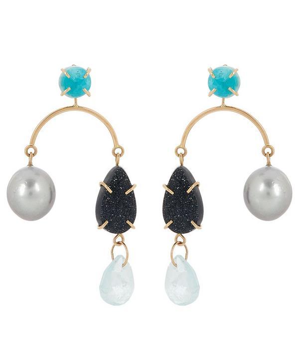 929be2505 ... jewellery designer Melissa Joy Manning. Shop. Exclusive. Gold  Multi-Stone Mobile Drop Earrings ...