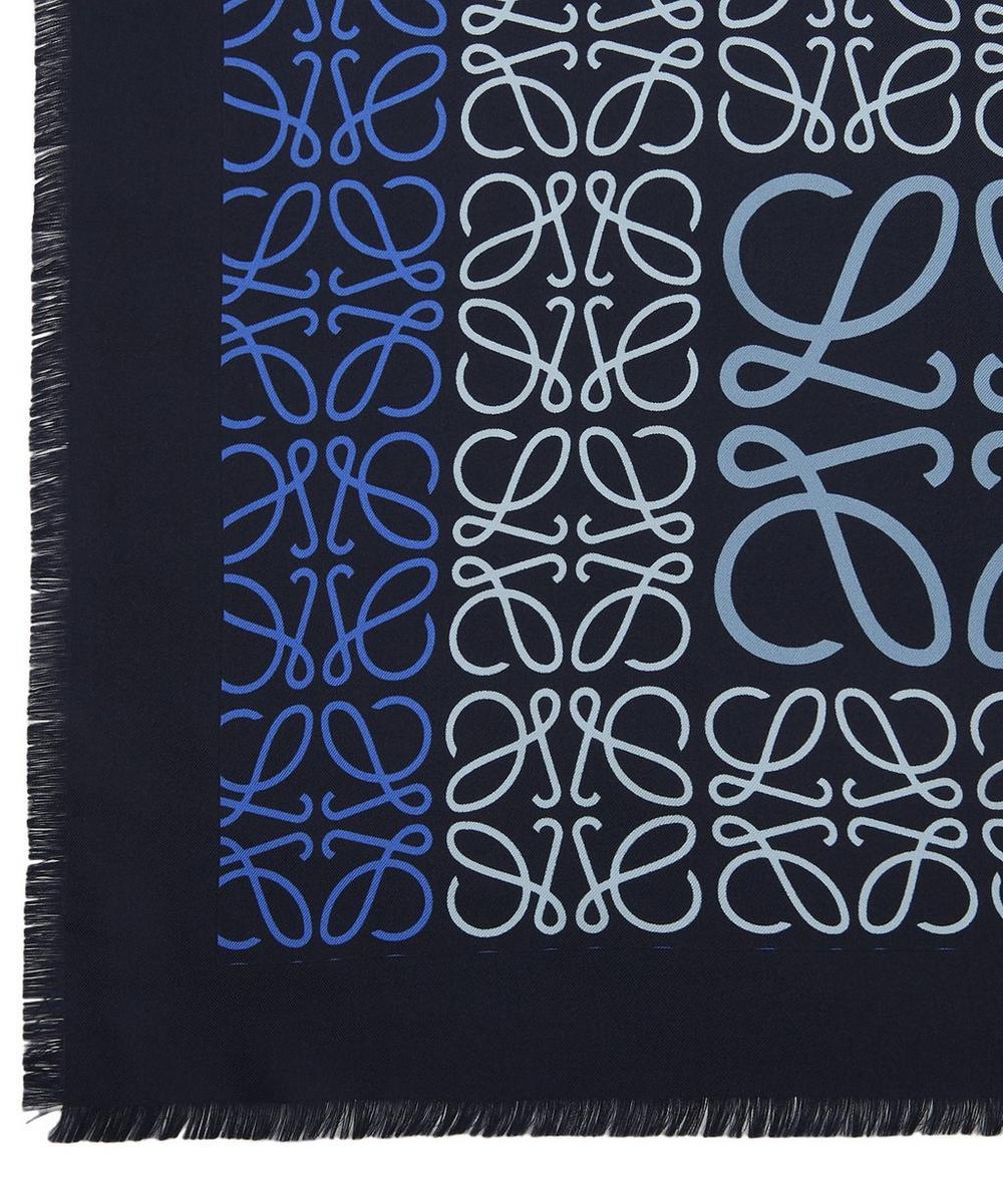 Logo Print Patchwork Scarf