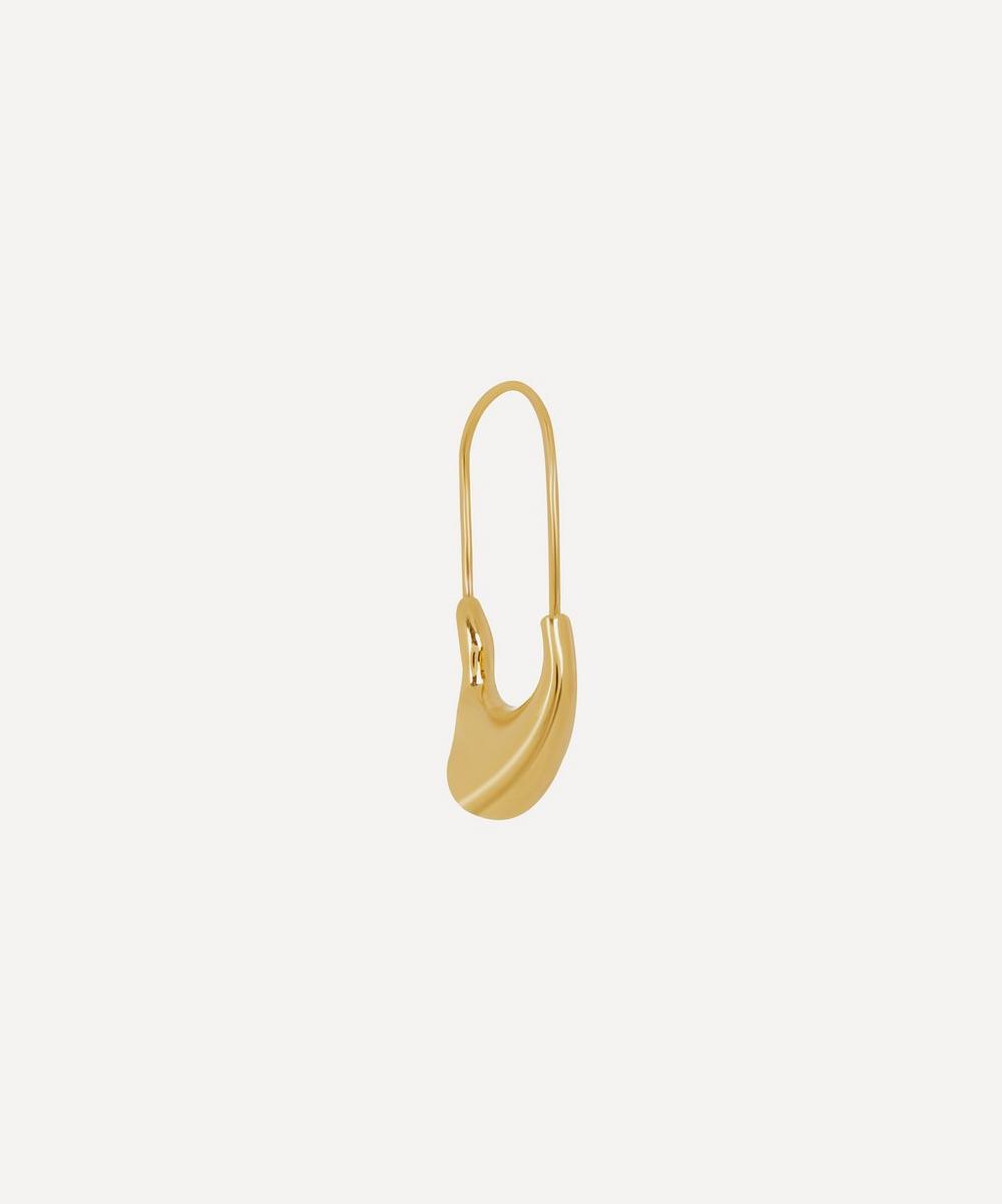 Maria Black - Gold-Plated Single Pebble Earring