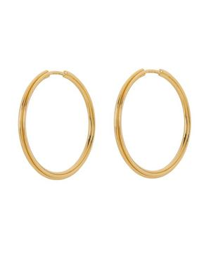 Gold-Plated Sunset 25 Hoop Earrings