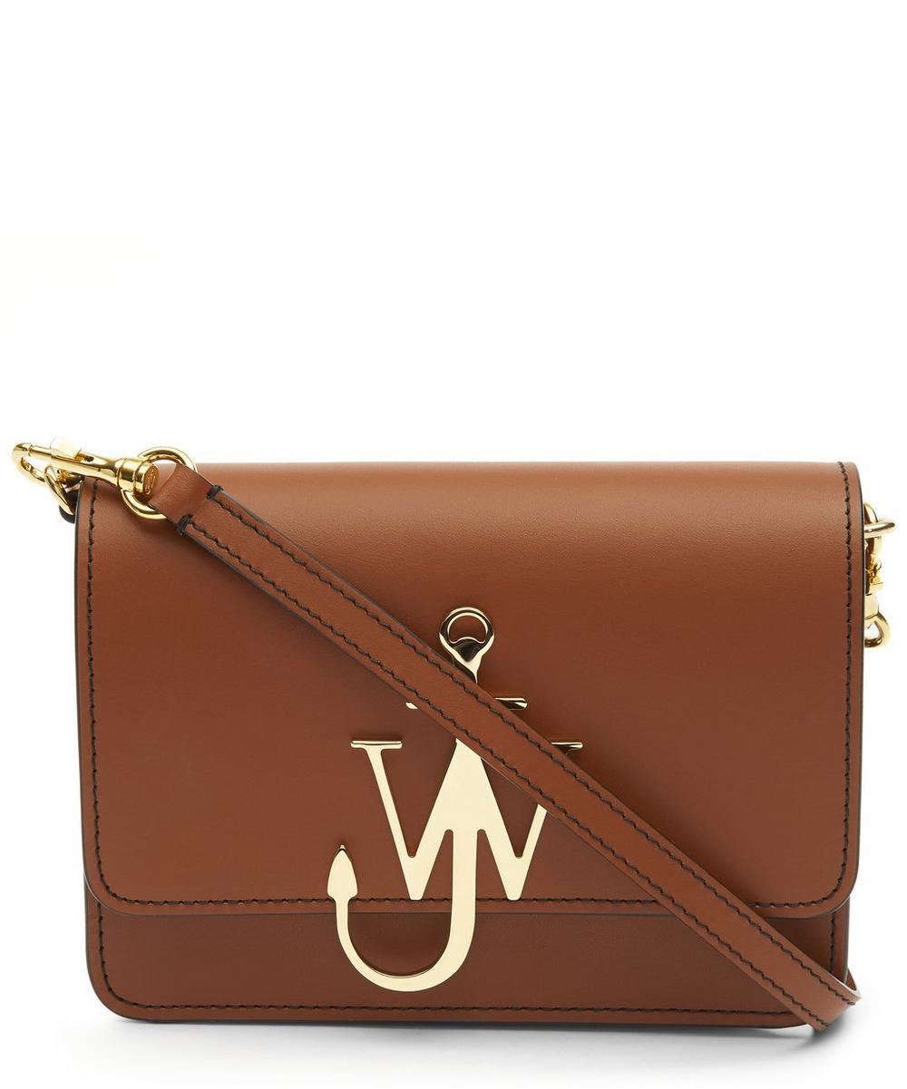 Mini Anchor Logo Leather Cross-Body Bag