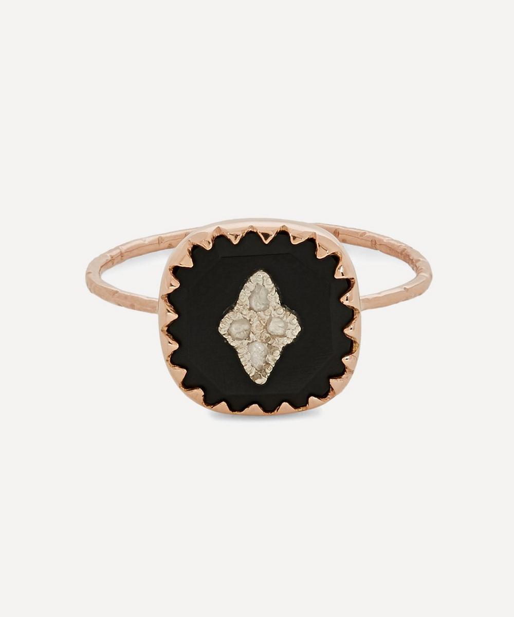 Pascale Monvoisin - 9ct Rose Gold Pierrot Diamond and Bakelite Ring