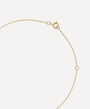 Gold L'Amour N°1 Engraved Crystal Pendant Necklace