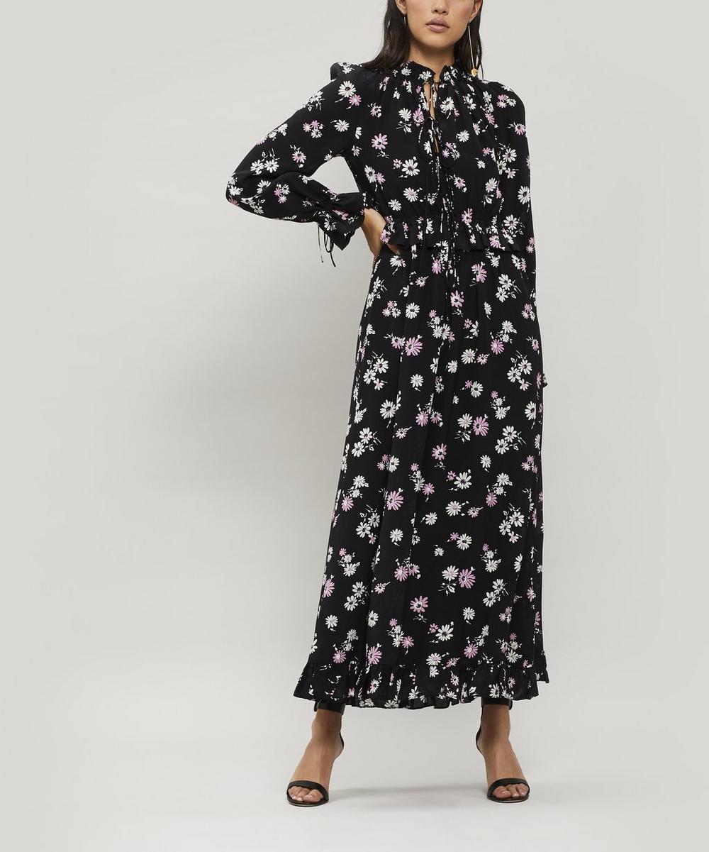 7e338884ed Ruffled Floral-Print Silk-Crepe Maxi Dress | Liberty London