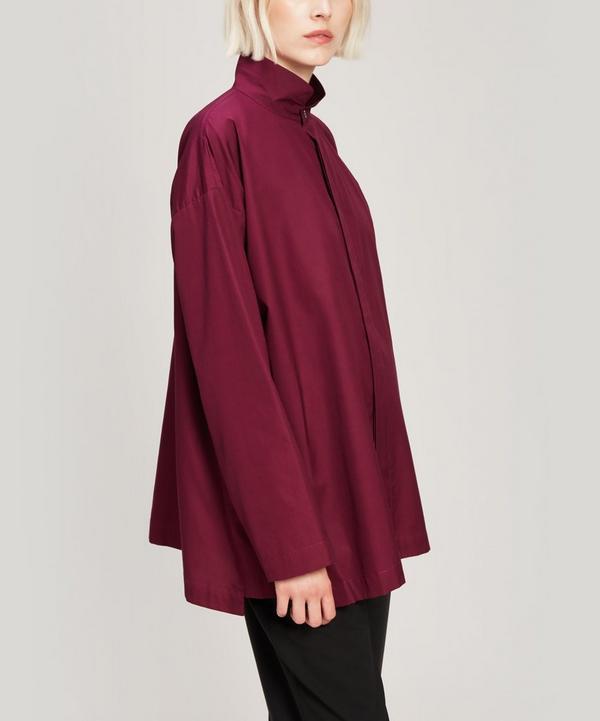 Double-Collar Slim Cotton Shirt