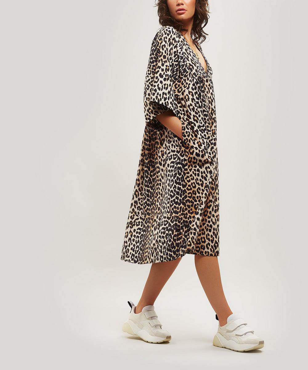 Leopard Print Loose Fit Dress