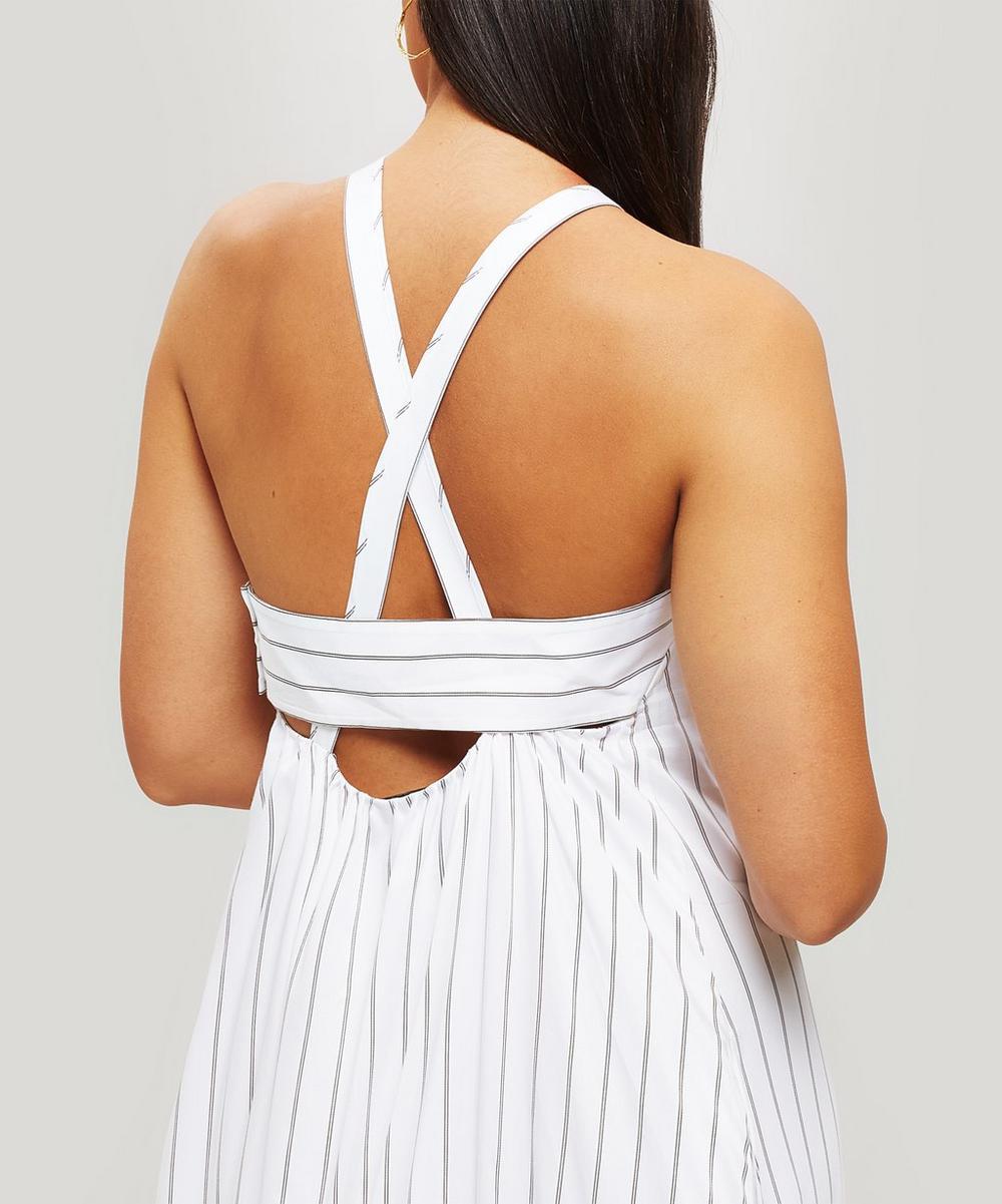 Tiered Striped Midi-Dress