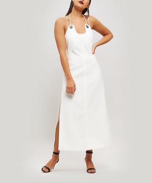 Strappy Crepe Midi Dress