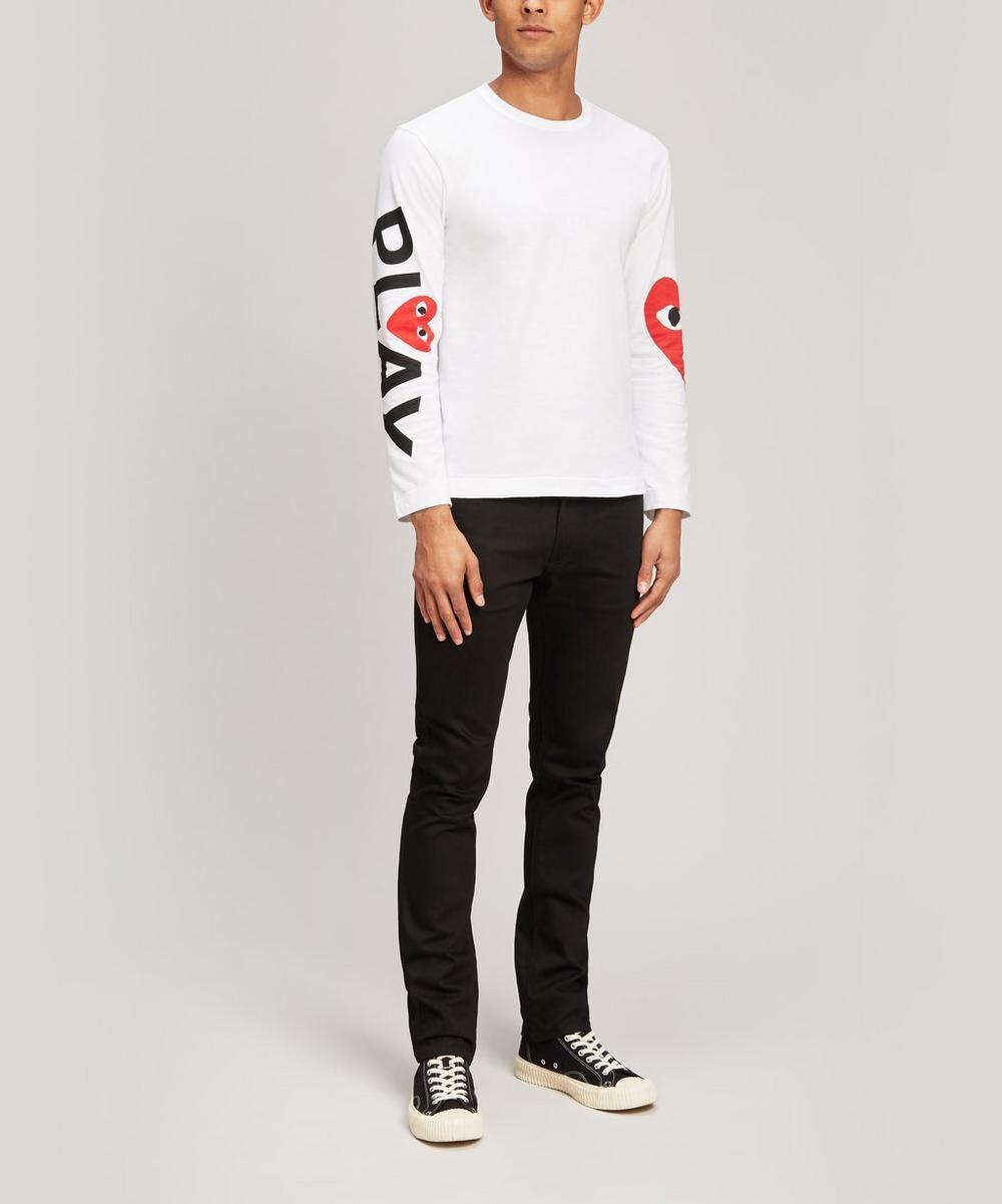 Heart Logo Arm Long Sleeve T-Shirt