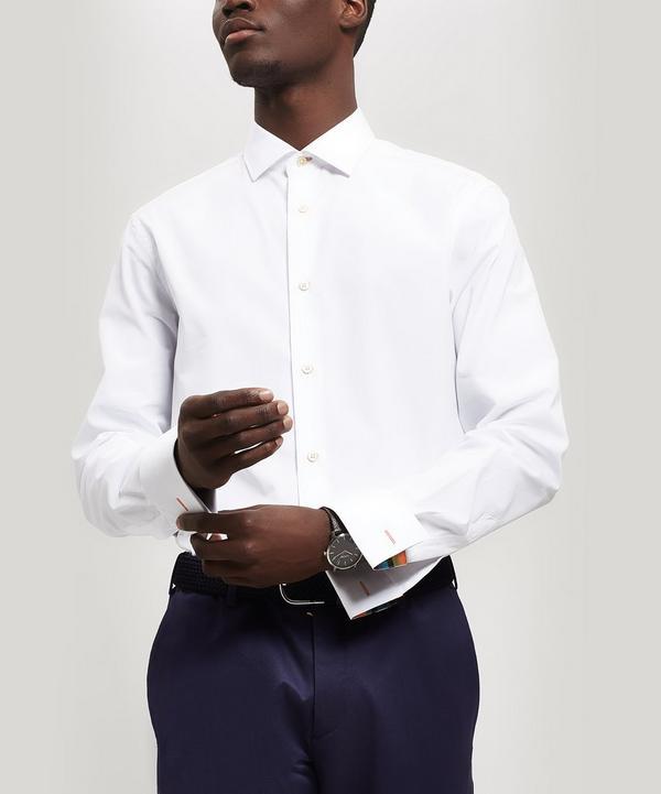 e8bea84138c Cotton Artist Stripe Detail Oxford Shirt ...