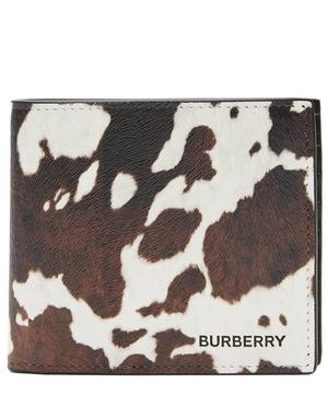 Cow Print Leather Bifold Wallet