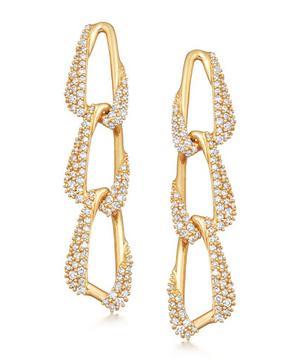 Gold Vela Diamond Drop Earrings