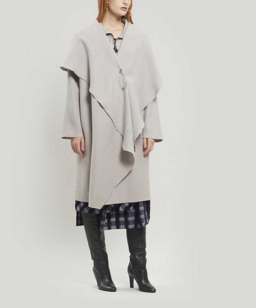 Open Drape Front Coat