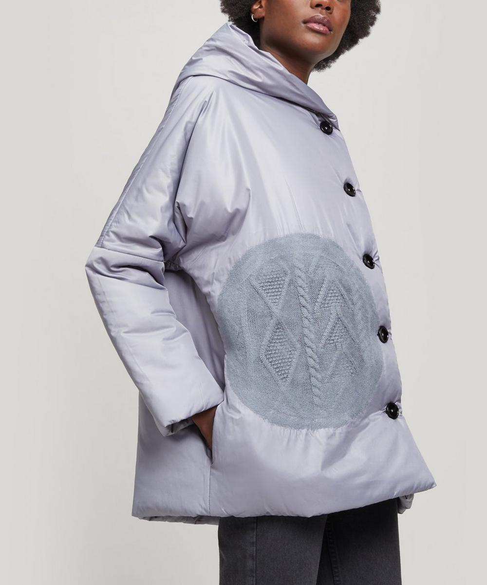 Oversized Button-Up Puffer Coat