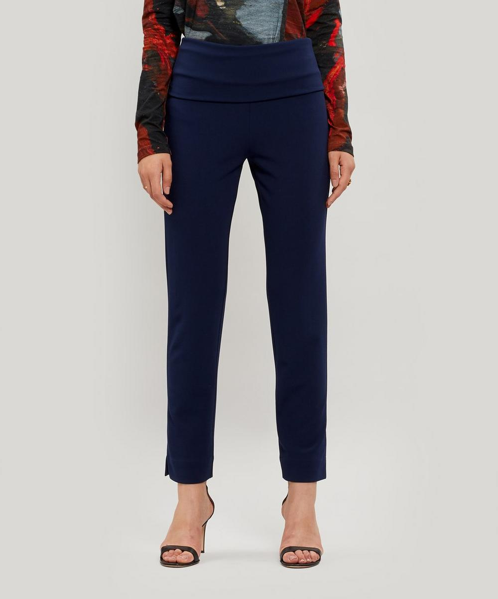 Fold Over Stretch Fit Trousers