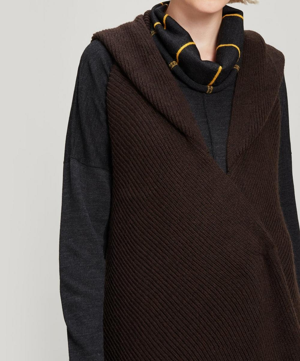 Draped Hooded Knit Gilet