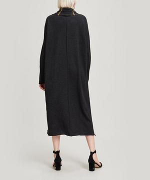 Oversized Drape-Neck Dress