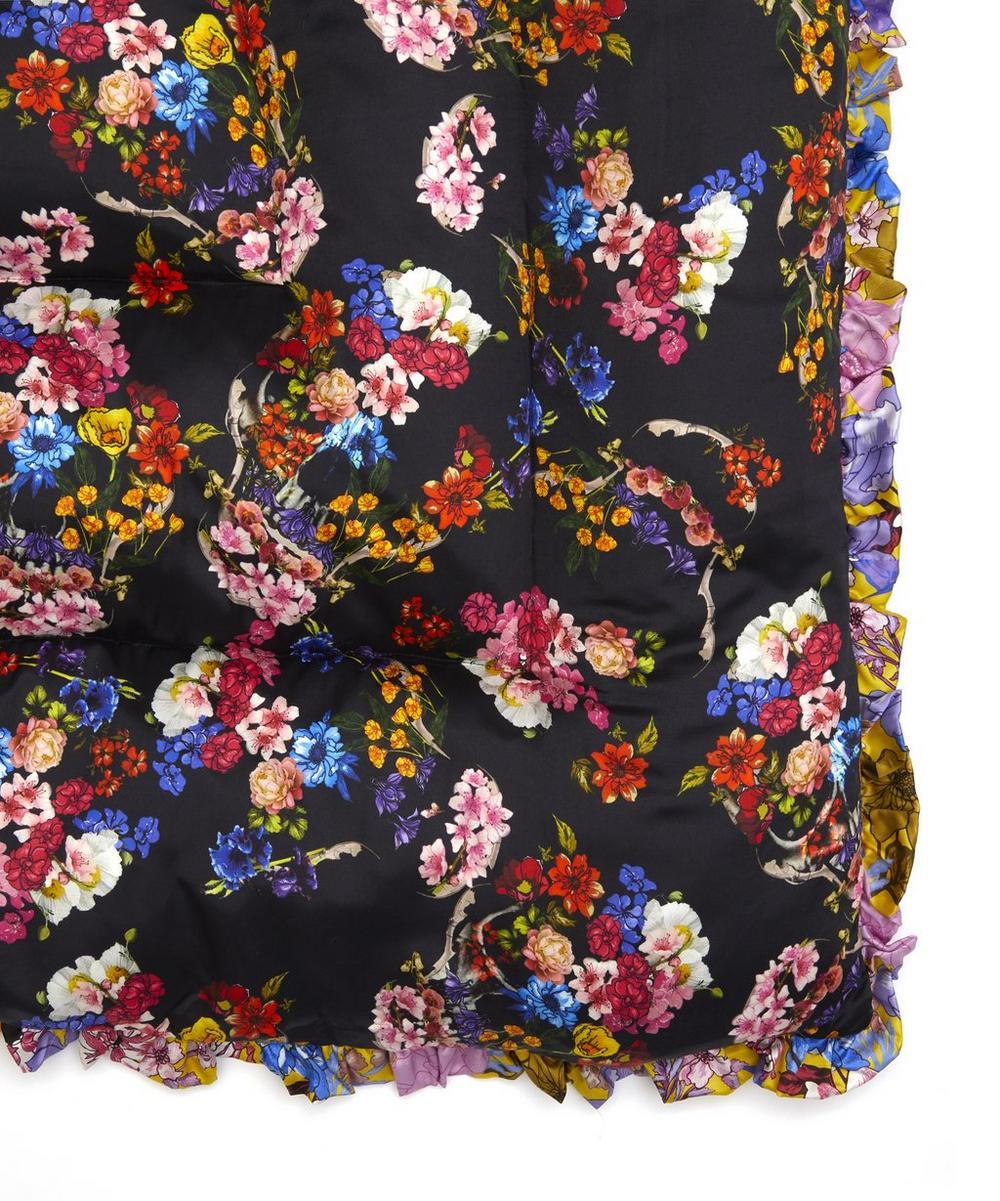 Floral Skull Silk Satin Quilted Eiderdown