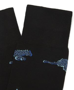 Cheetah Cotton Blend Socks