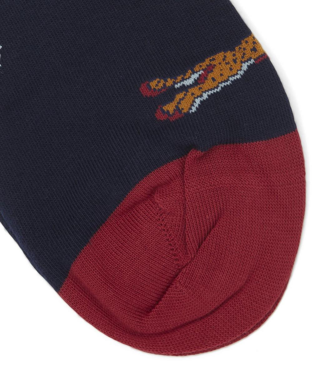 Cheetah Cotton Blend Socks