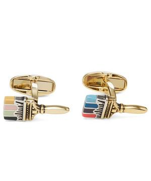 Artist Stripe Paint Brush Cufflinks