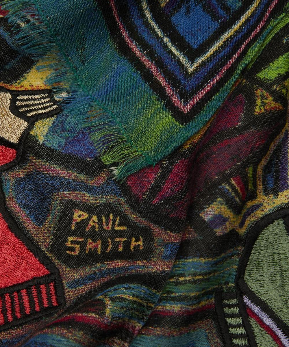 Artist Studio Printed Wool Scarf