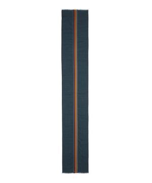 Artist Stripe Wool-Silk Scarf
